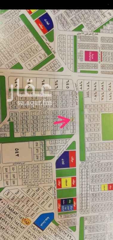 1263293 للبيع أرض في مخطط ٩٩ ج س الجزء ب حي الفنار  جده أبحر شمالية رقم القطعه @@المساحه ١٠٨٠ شارعين 25 شمالي +16جنوبي سعر ٧٥٠٠٠٠الف