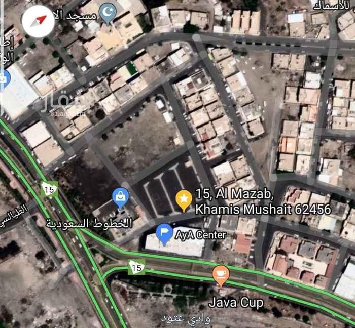 1492821 ارض تجارية على شارع الملك عبد الله خميس مشيط . الحزام الدائري. وشارع جانبي للايجار