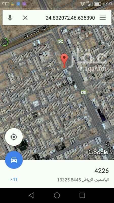 548182 للبيع أرض تجارية على طريق الملك عبدالعزيز حي الياسمين موقع ممتاز جدا   في أولا المدخل الحي إرس بلك جنوبي  مساحة 5307 م الأطول 87*61 علي السوم للاستفسار   0557000908