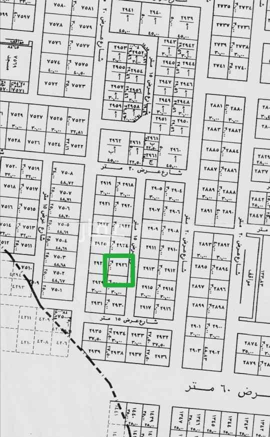 1809754 للبيع أرض سكنية بحى النرجس الكيلو الثانى الغربى المساحة ٩٠٠متر مجزئة كل قطعة ٤٥٠م اطوال كل قطعة ١٥×٣٠ السوم ٢٣٠٠ البيع ٢٥٠٠ شامل الضريبة الموقع غير دقيق