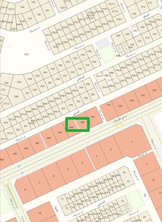 1816801 للبيع أرض تجارية قطعتين  حى قرطبة شارع ٣٦ جنوبى   شارع ١٥ شمالى  الاطوال ٦٠ × ٤٢،٣٠ عمق  السوم ٢٧٠٠  البيع ٣٠٠٠  مقابل مشروع فلل الارجوان
