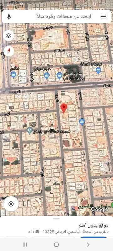 1757541 للبيع ارض سكنيه حي الياسمين مربع ٩ مساحه ٧٥٠م مجزاء قطعتين كل قطعه ٣٧٥م شارع ١٥ غربي عليها سوم ٢٣٠٠ريال بلك رقم ٨٤٧قطعه رقم٤٢٨٨