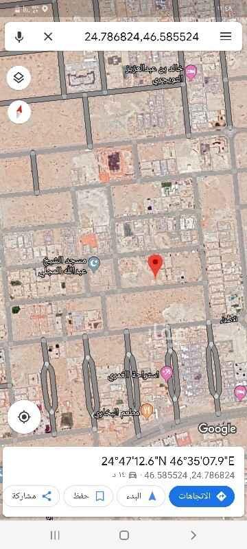 1809806 للبيع ارض سكنيه بحي الملقا مساحة ٧٨٠م شارع ٢٠ جنوبي الاطوال ٢٦*٣٠عمق البيع ٣٠٠٠ريال