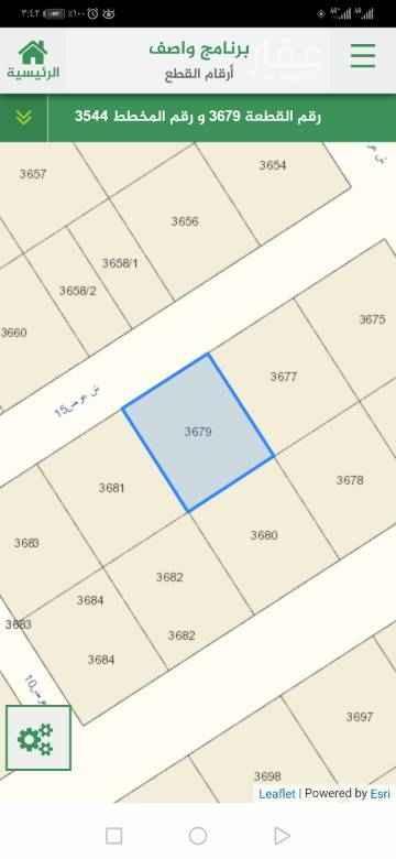 1646397 مخطط ٣٥٤٤ قطعة ٣٦٧٩ شارع ١٥ شمالي الحد ١٦٥ الف الطبيعة ممتازة