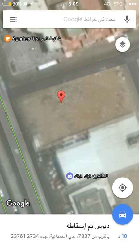 587734 ارض ثلاثة شوارع للأيجار مطلوب شركة كبرى ماركة brind  طول الضلع على الشارع التجاري 30 متر العمق الداخلي 60 متر