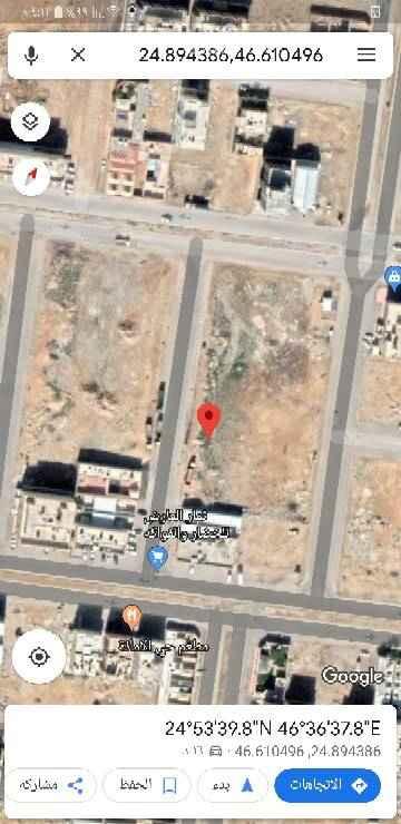 1649341 للبيع قطعتين ارض في حي الأمانة مساحة كل قطعه 500م الطول 15*30 / 33 البيع 1600+الضريبة مباشر من المالك   شارع ٢٠م غربى