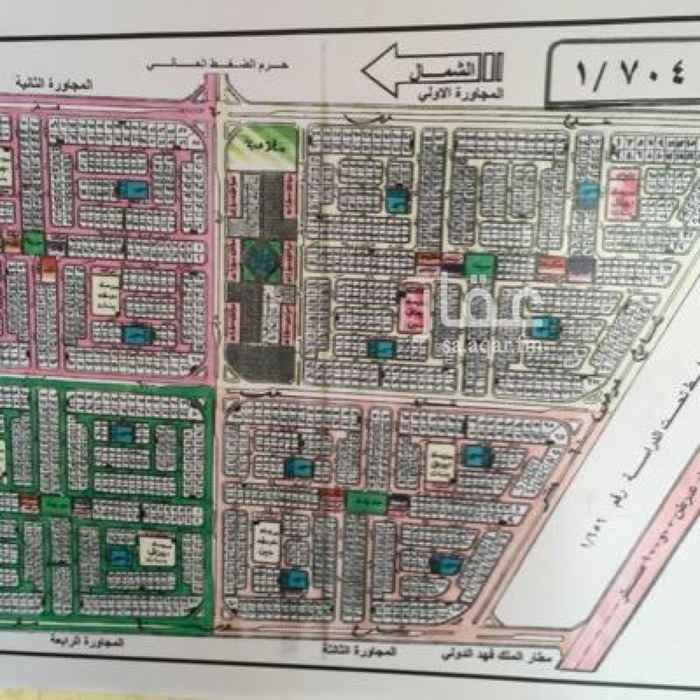 1299013 ارض للبيع في حي الامانه (704/4) المجاور الرابع  مساحة 750متر  18شرق  سوم 440الف