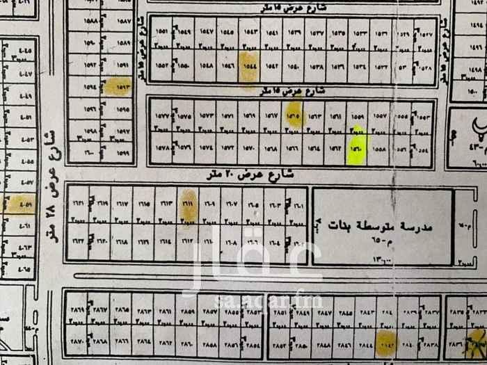 1291879 المخطط الجديد الدوادمي أرض سكنيه وجهه جنوبيه شارع ٢٠ متر