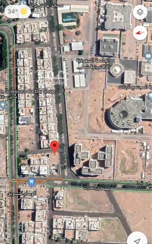 1753166 للبيع ارض بالمدينة المنورة  داخل حد الحرم  حي الفيصلية الشمالية  المساحة:٦٧٥م شارع ١٥م جنوبي شارع١٦ م شرقي