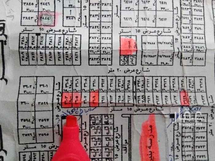 1458460 للبيع قطعه ارض مساحتها 448م جنوبيه شارع 15م شمال ريحانه شرق عبد العزيز اطوال16*28 البيع 1800+الضريبه