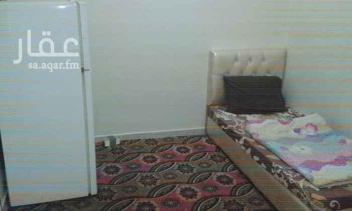 1004203 غرف عزاب مفروشة بالكامل حمامات خاصة داخل الغرف مصعد ونت مجانى ومكيفة وشاشة وثلاجة ودولاب و2 سرير على حسب الطلب شامل الكهرباء والمياه والصيانة   للتواصل جوال / ٠٥٤٦٩١٠٩٨٤