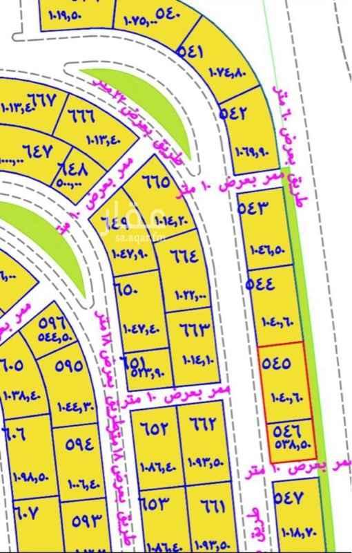 1763145 ارض رقم ٦٦٥ مخطط رقم ٥٠٥ الناصرية ركنية على شارعين 22 و 10 متر