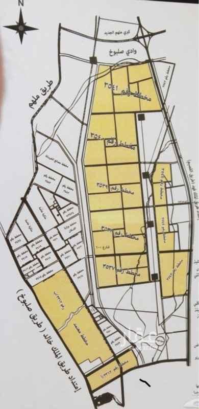 1682461 للبيع الأرض رقم ٢٢٠٩ - مخطط ٤٠  ٥٨٢م شارع ش١٥ شمالي على السوم