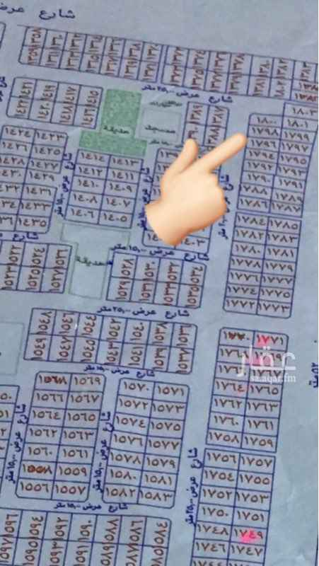 1515397 ارض سكنية في مخطط ولي العهد 4  1798 شارع 25  مساحه 760 20 متر الواجه في 38  قريب منها موقع مسجد وحديقة السعر 360