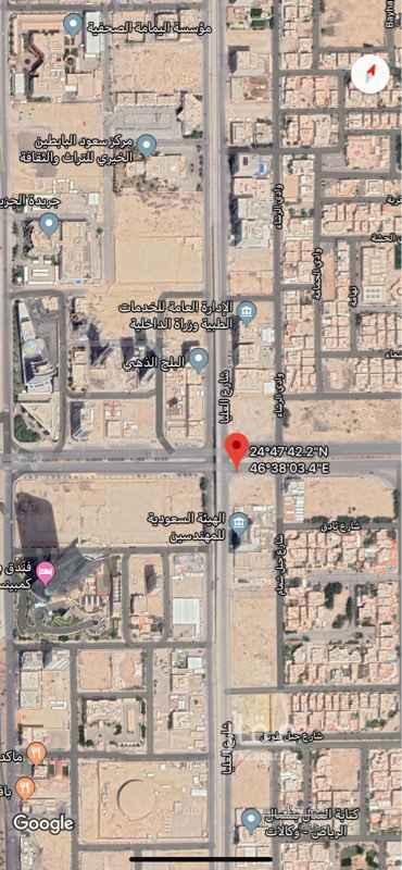 1536452 للبيع ارض تجاريه على طريق  الامام سعود بن فيصل وعلى طريق العليا العام  على٣شوارع  ٦٠شمالي  ٤٠ غربي ١٥ شرقي المساحه ٢٩١٨متر  على السوم 🔴🔴🔴