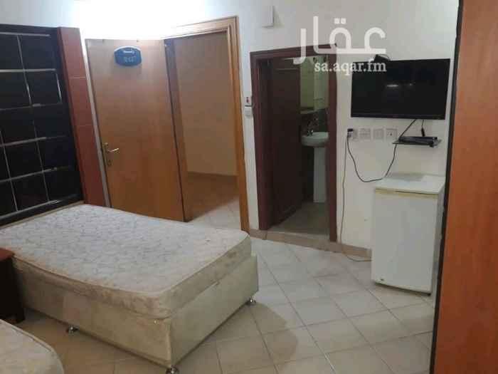 1660603 غرفه للايجار في عماره فندقية  غرفه ودوره مياه راكب مكيف تشطيب ممتاز  موثثه بالكامل