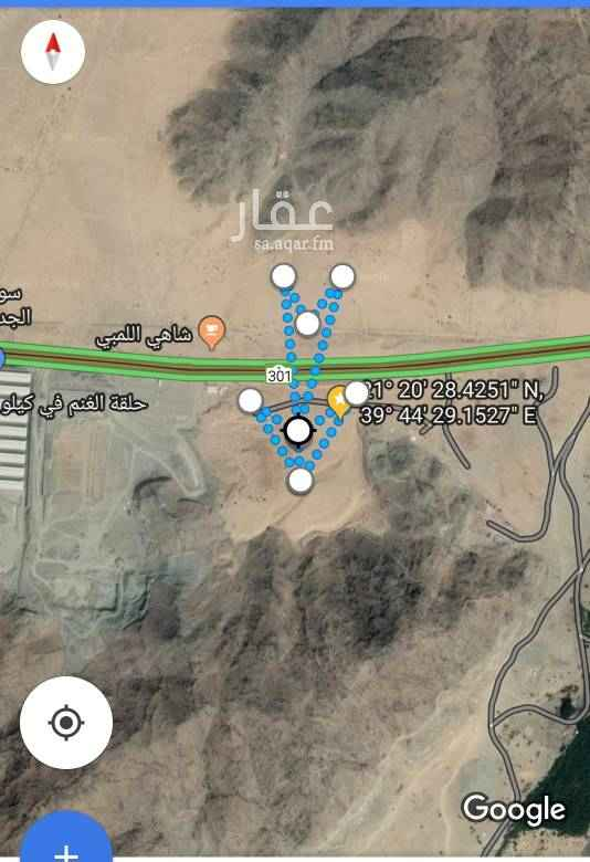 1626480 الموقع تقع علي طريق الليث بين الطريق الدائري الرابع ومخططات ولي العهد  بعرض اكثر من ٢٥٠ متر