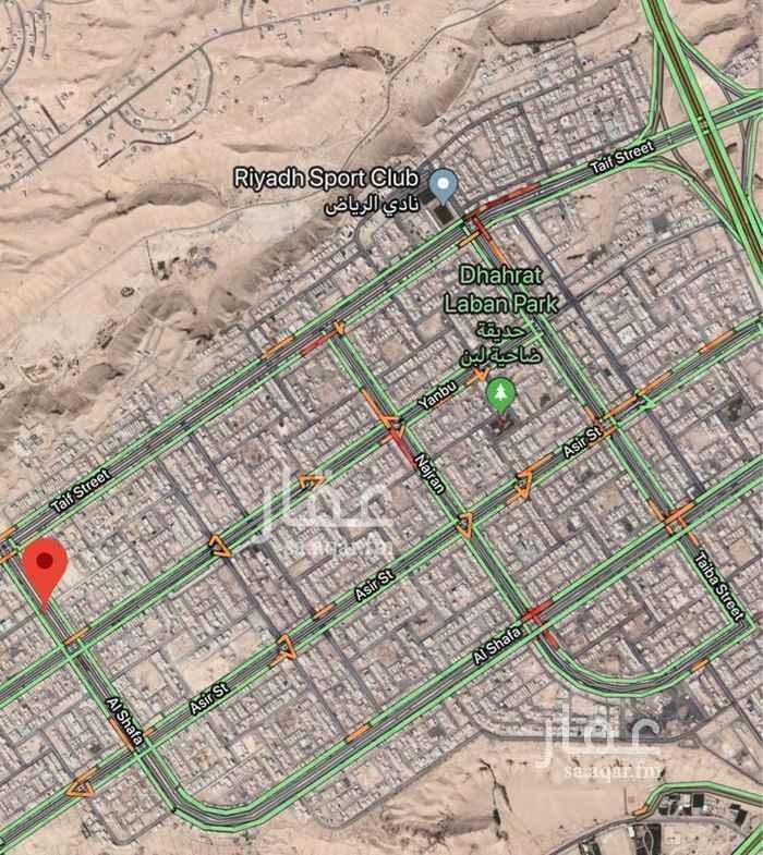 1513421 قطعة تجارية في  شارع الشفا ، حي ظهرة لبن  شارع عرض ٦٠م واجهة شرقية بمساحة ٩٠٠م (٣٠*٣٠)