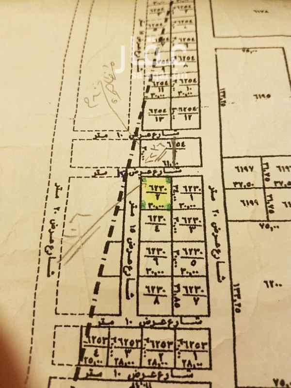 1254637 ارض سكنيه للبيع حي النرجس الكيلو3الغربي جنوب سلمان