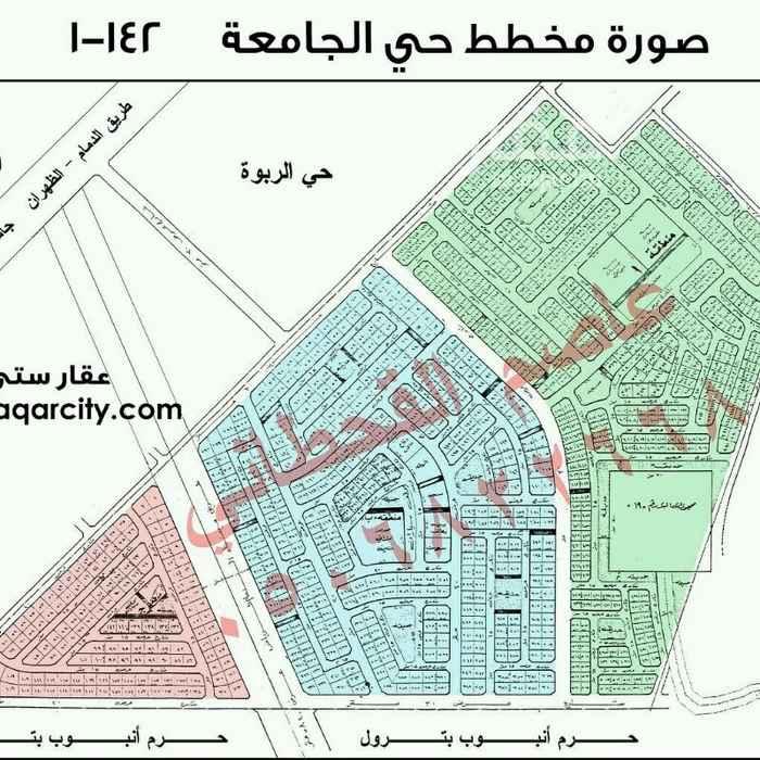738483 للبيع ارض سكنية في حي الجامعة حرف أ قطعة رقم 387  مساحة 400م  15شمال السعر ٢٠٥٠ريال للمتر
