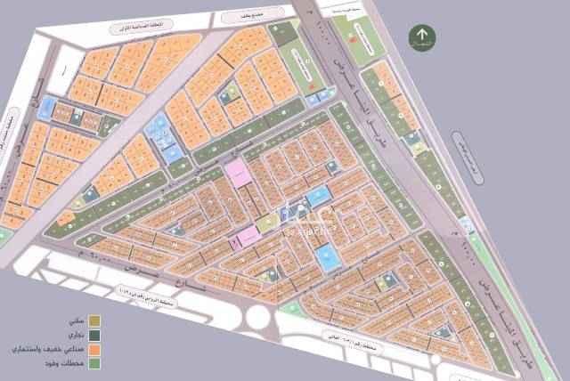 1696702 للبيع ارض في حي القيروان  مساحة ٤٧٠م ١٦شرق  السعر ١٦٠٠ريال للمتر  مباشر