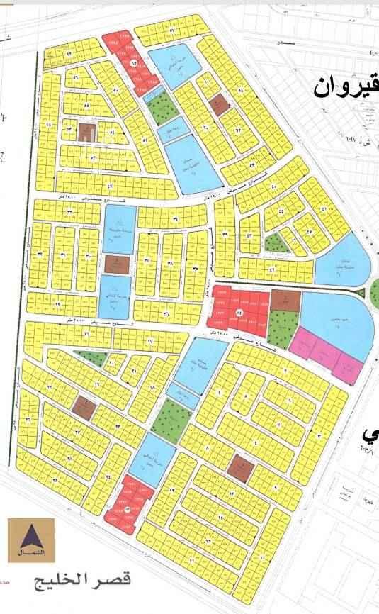 1736954 للبيع اراضي سكنية في حي المنتزة  مساحة ٧٢٠م لكل قطعة  الاطوال ٢٤ * ٣٠ السعر ١٦٠٠ريال للمتر