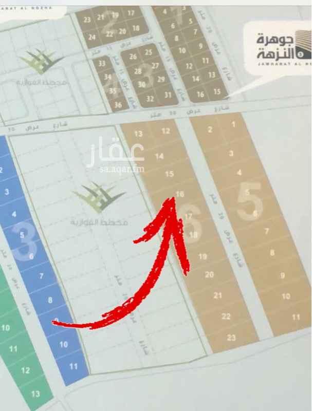 1650399 أرض للبيع في جوهرة النزهة رقم 16 المساحة 512م شارع عرض 30 × 15 ركن المنطقة 3 سعر المتر 1,350 ريال