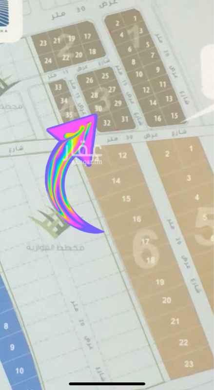 1650464 أرض للبيع في جوهرة النزهة رقم 30 المساحة 514م شارع عرض 15 × 15 × 8 رأس بلك سعر المتر 1,200 ريال
