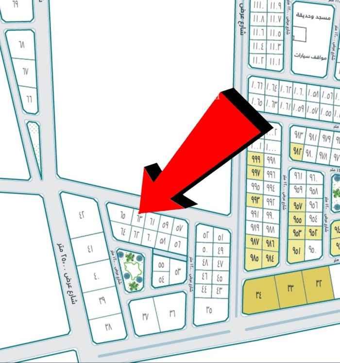 1660169 أرض للبيع في دانة الراشدية رقم 63 حرف أ المساحة 526م شارع عرض 20 على السوم