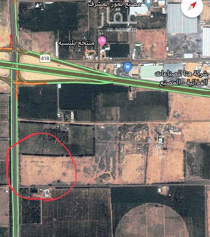 1630803 ارض زراعية على شارعين جنوب مطار القصيم
