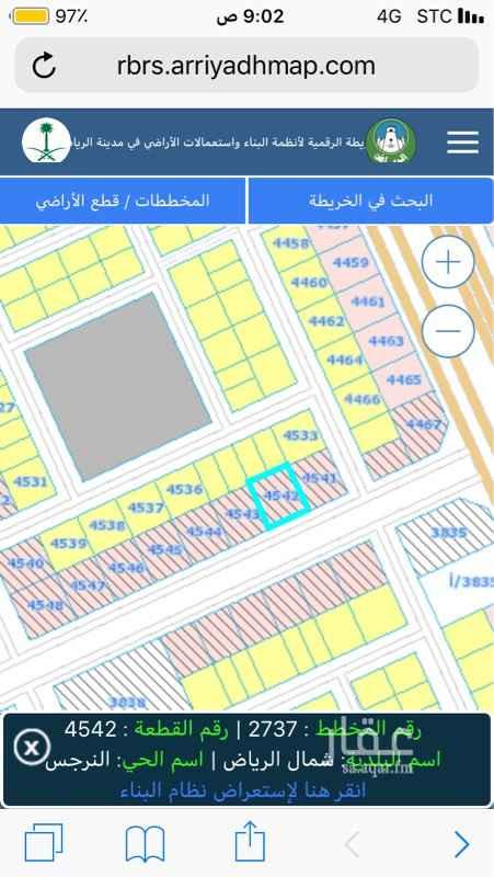 1623228 ارض للاجار مساحة 1050م اطوالها 30*35 على شارع 36 نافذ على طريق عثمان بن عفان وطريق الامير فيصل بن بندر .
