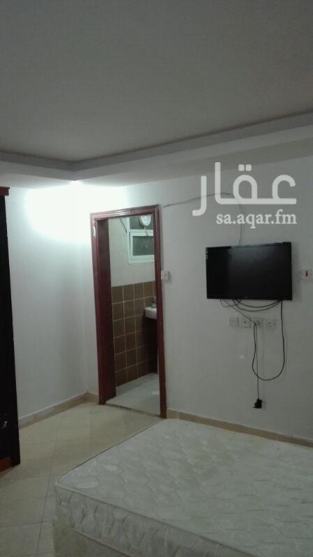 1599726 شقة للإيجار فندقية  حي الفيحاء شارع هارون الرشيد  غرفة ودورة مياه  راكب مكيف تشطيب ممتاز