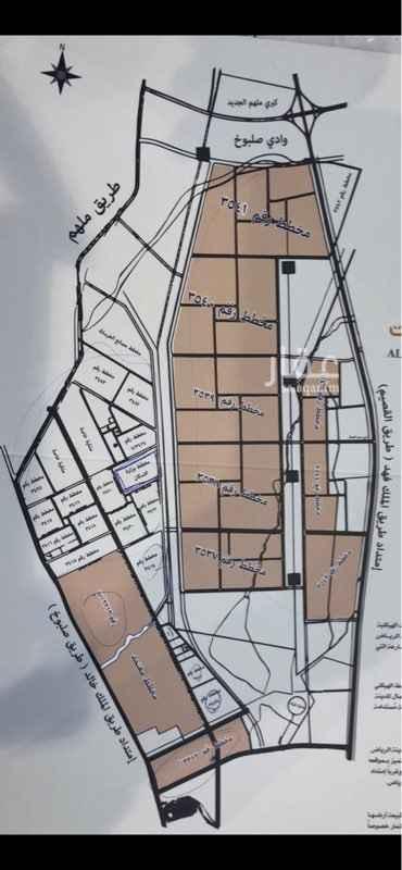1095859 ارض لبيع مساحته ٨٢٥ مخطط ٣٥٣٩ الطبيعه كف السوم ٢٠٠