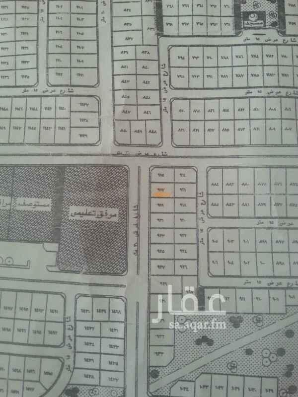 1207730 للبيع ارض في مخطط حي الموسي مساحتها 550 م  (22*25) م  مستوية علي شارع 15 جنوبي المطلوب فيها 450 الف ريال