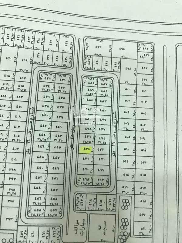 1579943 ارض في مخطط الرياض الجزء هـ رقم القطعه ٤٧٤قريبه من الحديقه والمسجد مسحتها ٦٢٥