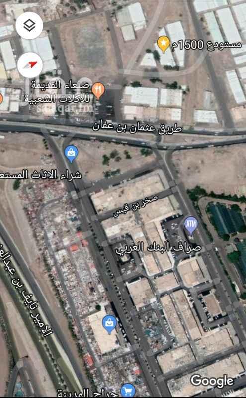 1157244 (مستودع) في موقع ممتاز قريب من حراج الاثاث في المدينة المنورة جاهز من جميع وسائل السلامة وثلاث مكاتب وجاهز لترخيص مصنع