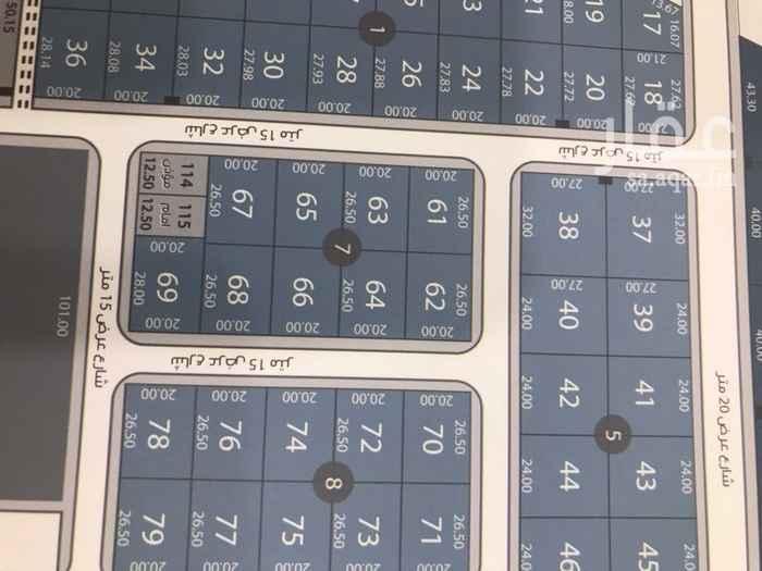 1552348 ارض في مخطط واحه القيروان  المساحه ٥٣٠ م الاطوال ٢٠في٢٦.٥ الواجهه شرقيه الشارع ١٥ م  يوجد اكثر من قطعه  البيع ٢٤٥٠ + الضريبه