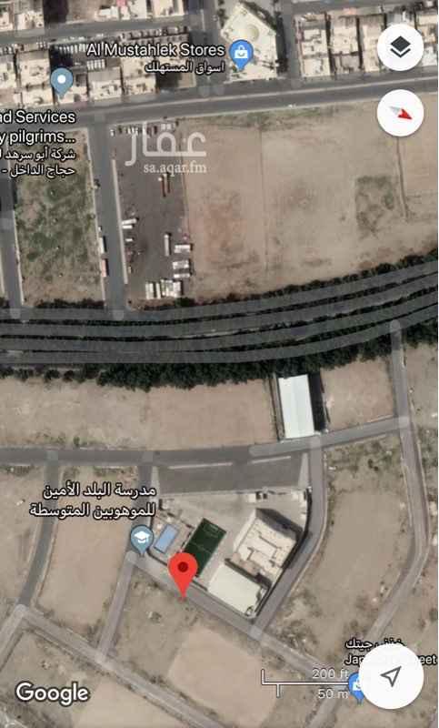 1583953 للبيع قطعة سكنية بمخطط الحمراء مساحة 600 م  مستوية تماما خلف خلف مدرسة البلد الامين للموهبين سهل الوصول اليه للراغبين بالسكن