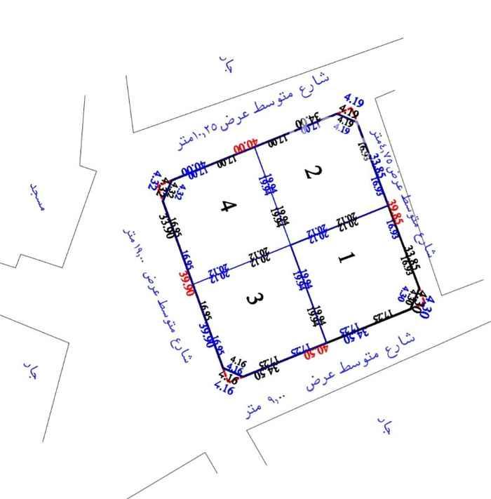 918817 أربع قطع للبيع بصكوك إلكترونية حي بريمان الشعبي السعر المعروض للقطعة رقم ٣ أو رقم ٤