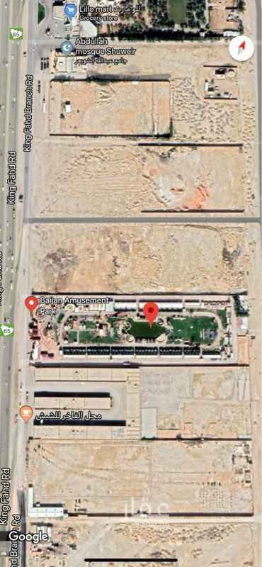 1801173 ارض البيع  على طريق الملك فهد هي ملاهي البيعجان مباشر من المالك عمق ٣٠٠ متر طول من شارع ١٠٠ متر تنفع كمباوند