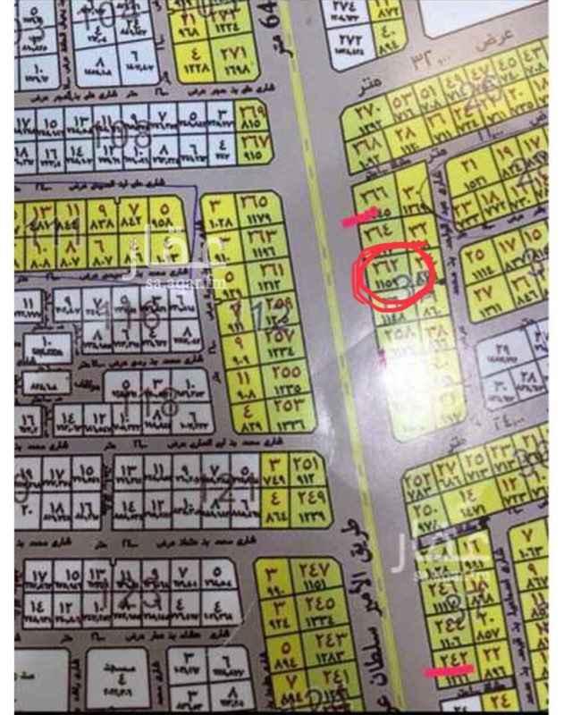 1732024 ارض تجارية على شارع الامير سلطان ٦٥م.  مساحتها ١١٥٩،٥١  على السوم و الله الموفق.   0597906050