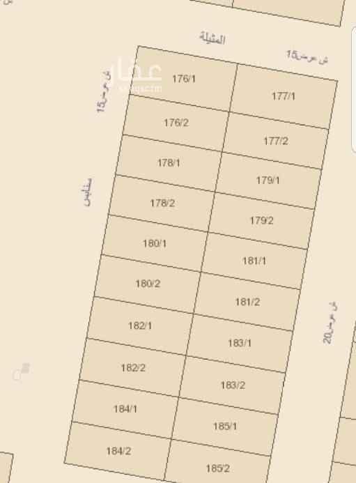 1698550 للبيع ارض ٣٦٠ م  وشارع ١٥ غربي  في شمال مخطط الراجحي  بسعر ٢٤٥٠