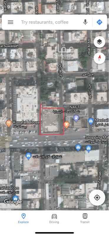 1156997 موقع مميز علي شارع فلسطين علي ٣ واجهات  يوجد كروكي تنظيمي و خرائط