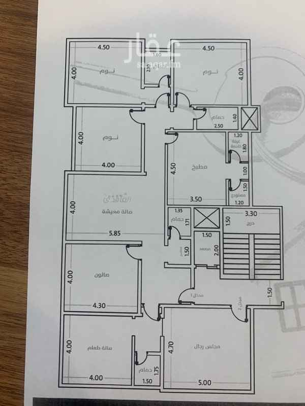 1750422 الموقع: حي التيسير  المساحة:٢١٦  متر مربع  الغرف:٦ غرف ، ٤ حمامات، صالة، غرفة خادمة، غرفة سائق خزان مستقل( علوي وسفلي)  موقف خاص  مدخلين  غاز مركزي منفصل  شقتين في الدور   الضمانات:  ضمان ٥ سنين كهرباء وسباكة  ضمان على هيكل البناء  ١٥ سنة  ضمان على القواطع والافياش ٢٥ سنة  الشقة تحت الانشاء  ملاحظة : الشقة على شارعين سعرها : ٦٥٠ الف  وعلى شارع : ٦٣٠ الف