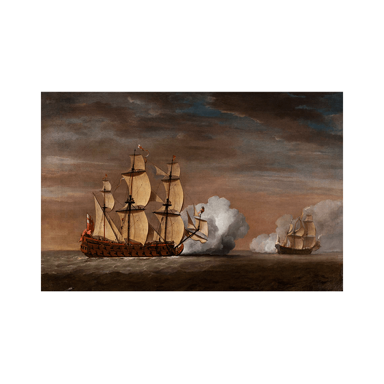 An Original Oil on Canvas by Willem van de Velde the Younger