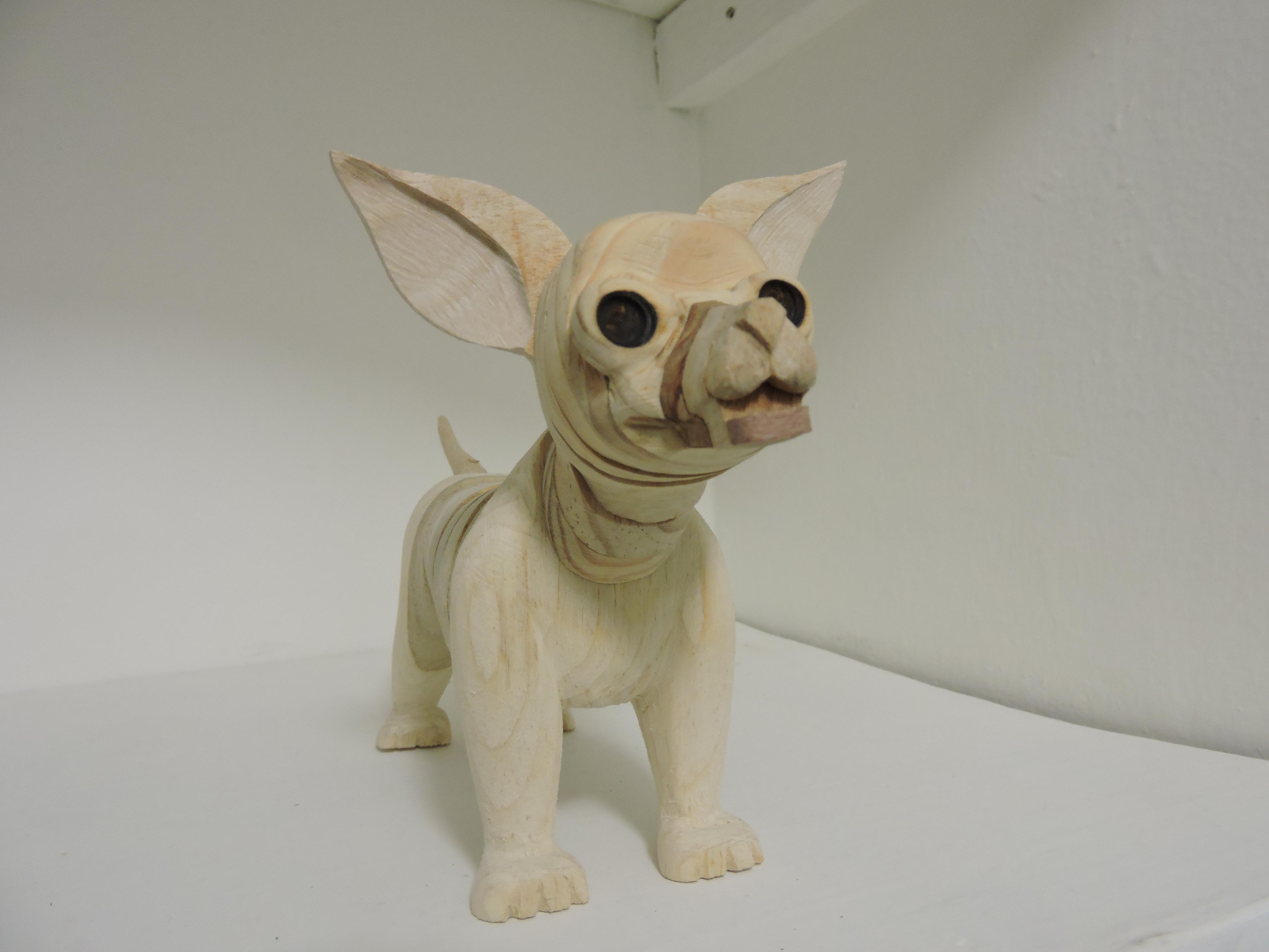 Chihuahua de Madera Artesanal OFERTA