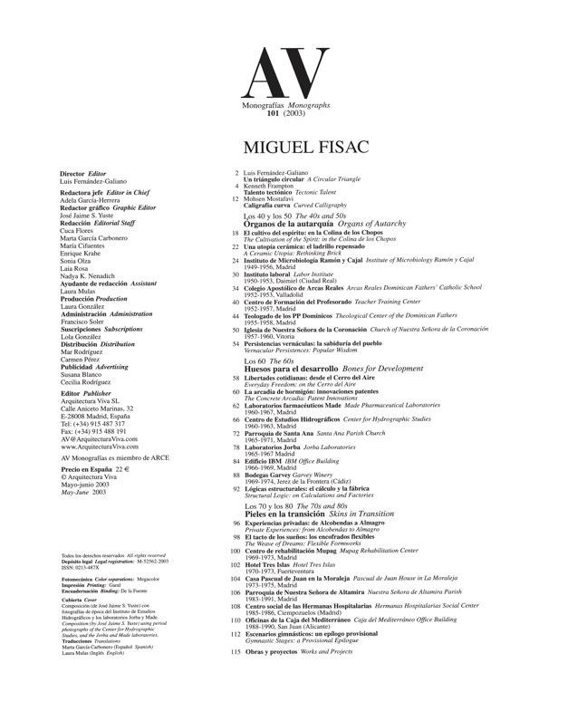 AV Monografías 101 MIGUEL FISAC - Preview 1