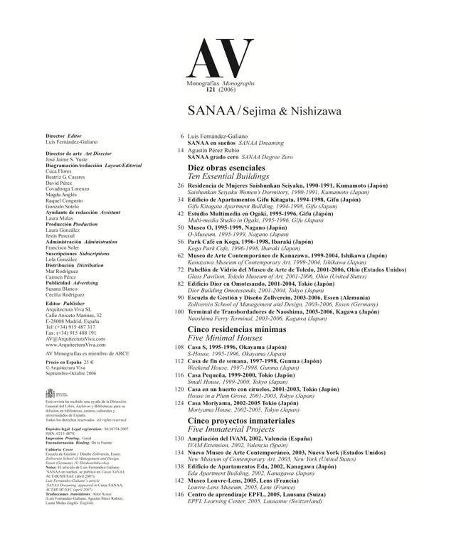 AV Monografias 121 SANAA Sejima & Nishizawa - Preview 1