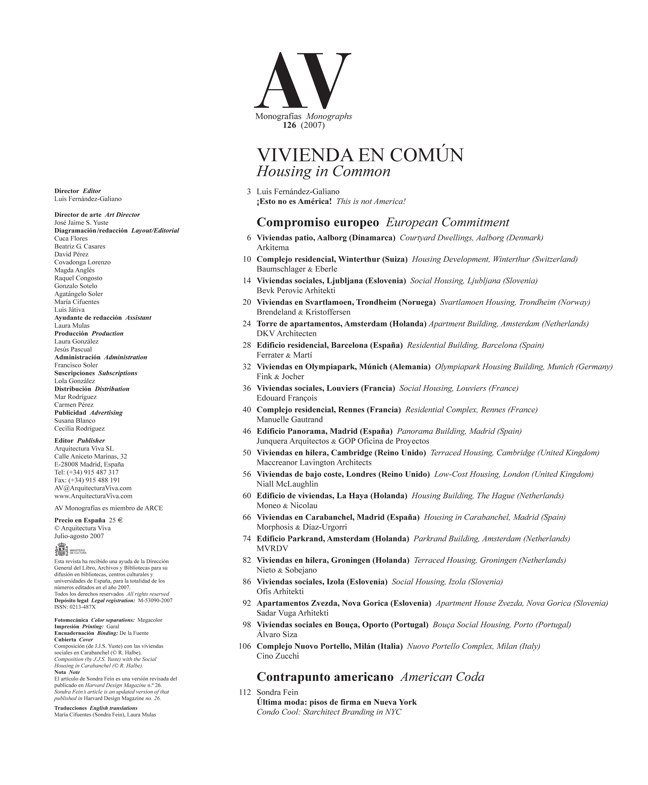 AV Monografías 126 VIVIENDA EN COMÚN - Preview 1