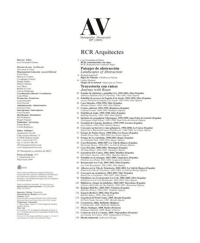 AV Monografias 137 RCR Arquitectes - Preview 1